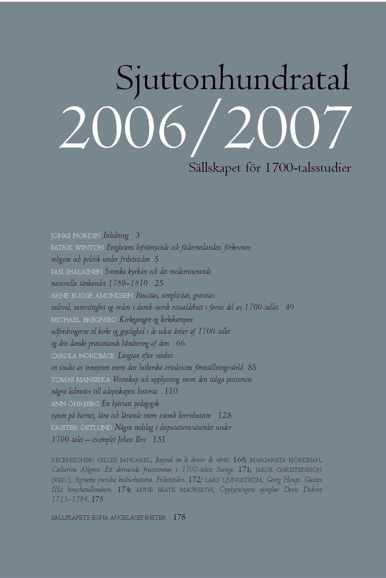 View Vol 3-4 (2006/2007): Tema: Tro och vetande